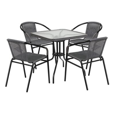 Fontes 5 Piece Dining Set Finish: Gray