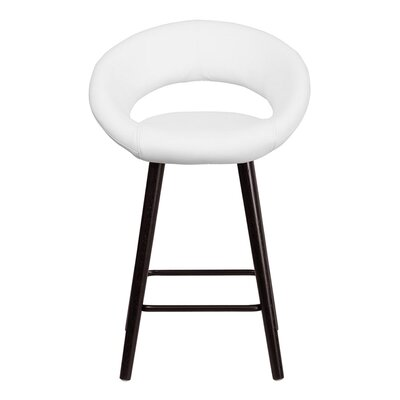 Goodale 24.5 Bar Stool Upholstery: White