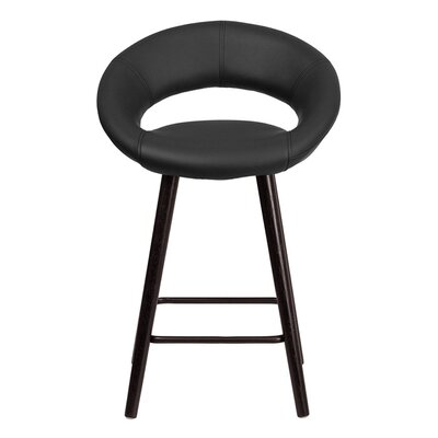 Goodale 24.5 Bar Stool Upholstery: Black