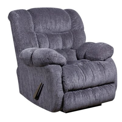 Straker Manual Recliner Upholstery: Indigo Blue