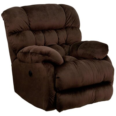 Straker Power Recliner Upholstery: Chocolate