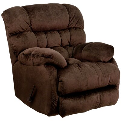 Straker Manual Recliner Upholstery: Chocolate