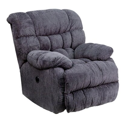 Straker Power Recliner Upholstery: Indigo Blue