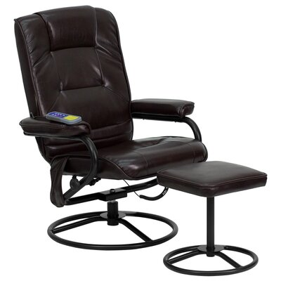Mariela Manual Recliner with Ottoman