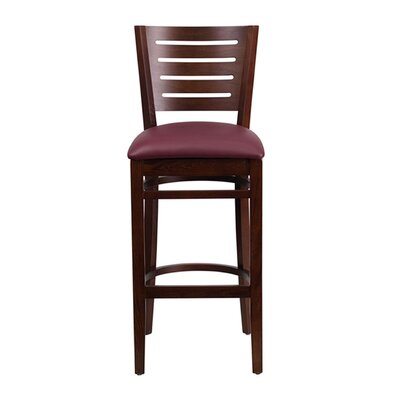 Darby Series 31.5 inch Bar Stool Upholstery: Burgundy