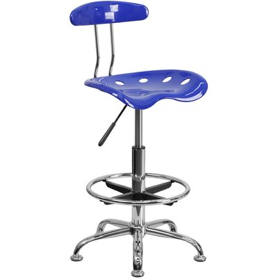 Tractor Adjustable Height Swivel Bar Stool Finish: Nautical Blue