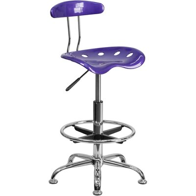 Tractor Adjustable Height Swivel Bar Stool Finish: Violet