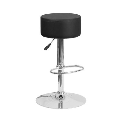 30.5 Swivel Bar Stool Upholstery: Black