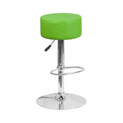 30.5 Swivel Bar Stool Upholstery: Green
