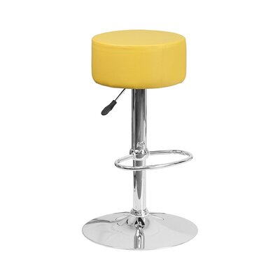 30.5 Swivel Bar Stool Upholstery: Yellow