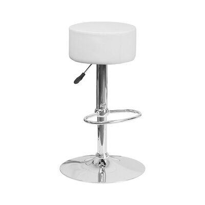 30.5 Swivel Bar Stool Upholstery: White