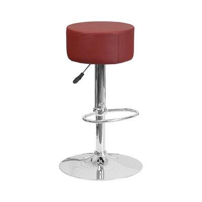 30.5 inch Swivel Bar Stool Upholstery: Burgundy