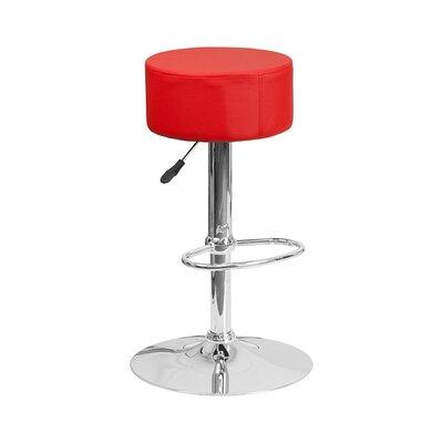 30.5 inch Swivel Bar Stool Upholstery: Red
