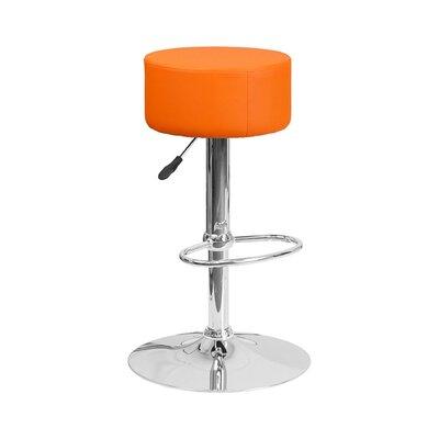 30.5 Swivel Bar Stool Upholstery: Orange