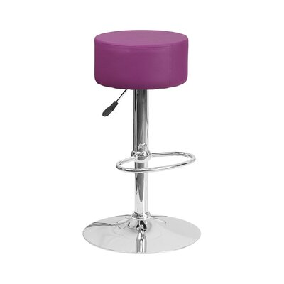 30.5 Swivel Bar Stool Upholstery: Purple