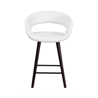 Brynn 24 Bar Stool Upholstery: White