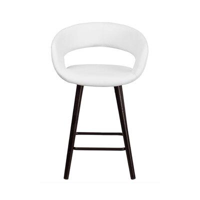 Brynn 24 Swivel Bar Stool Upholstery: White
