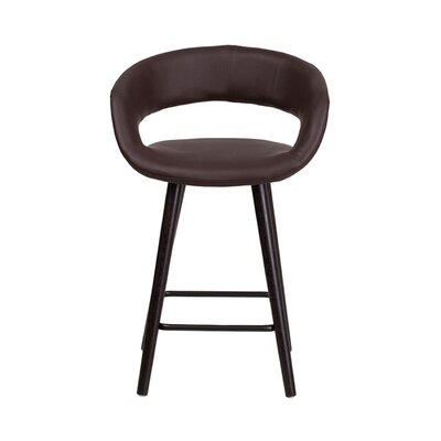 Brynn 24 Bar Stool Upholstery: Brown