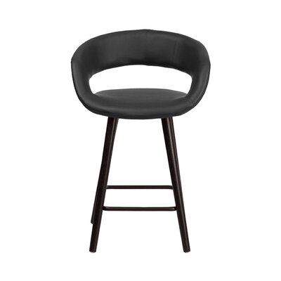 Brynn 24 Swivel Bar Stool Upholstery: Black