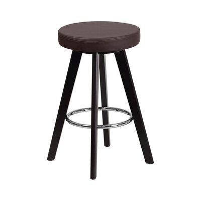 Trenton 30 Swivel Bar Stool Upholstery: Brown