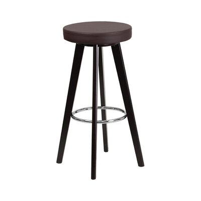 Trenton 30 Swivel Bar Stool Upholstery: Brown