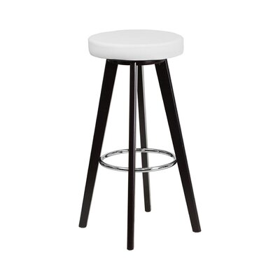 Trenton 30 Swivel Bar Stool Upholstery: White