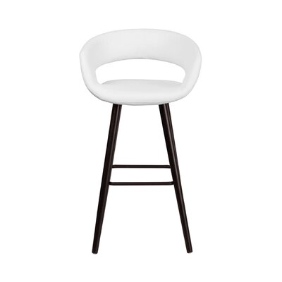 Brynn 30 Bar Stool Upholstery: White