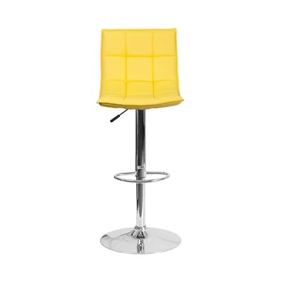 32.5 Swivel Bar Stool Upholstery: Yellow