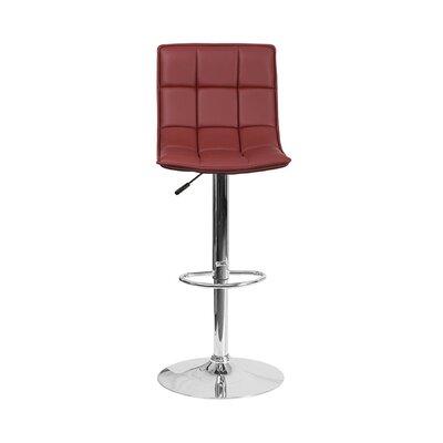 32.5 Swivel Bar Stool Upholstery: Burgundy