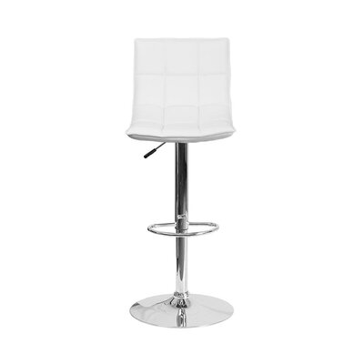 32.5 Swivel Bar Stool Upholstery: White