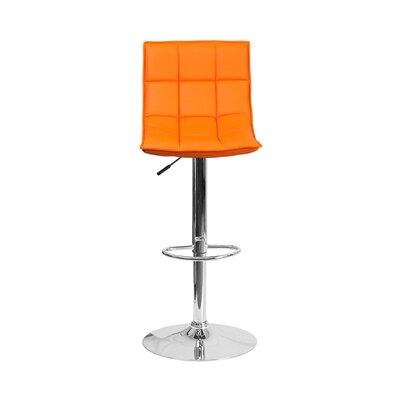 32.5 Swivel Bar Stool Upholstery: Orange