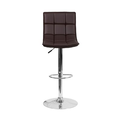 32.5 Swivel Bar Stool Upholstery: Brown
