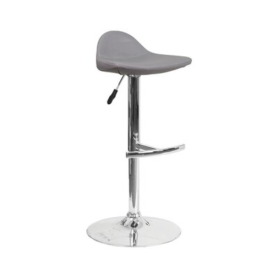Derick Adjustable Height Swivel Bar Stool Finish: Gray