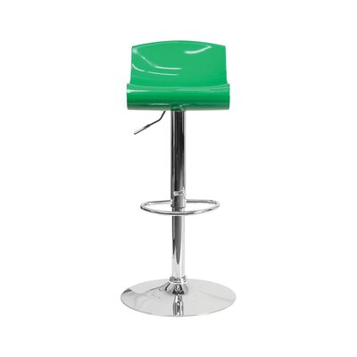 Arlington Adjustable Height Swivel Bar Stool Color: Green/White