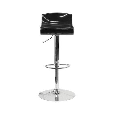 Arlington Adjustable Height Swivel Bar Stool Color: Black/White