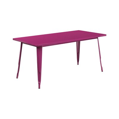 Jesse Rectangular Indoor Coffee Table Color: Purple