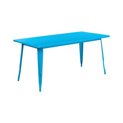 Jesse Rectangular Indoor Coffee Table Color: Crystal Blue