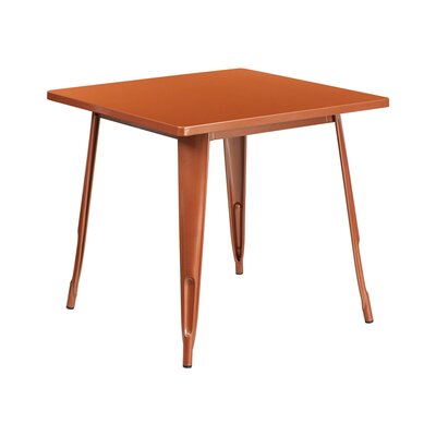 Jesse Square Metal Indoor End Table Color: Copper