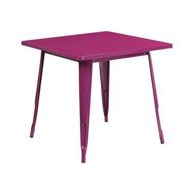 Jesse Square Metal Indoor End Table Color: Purple