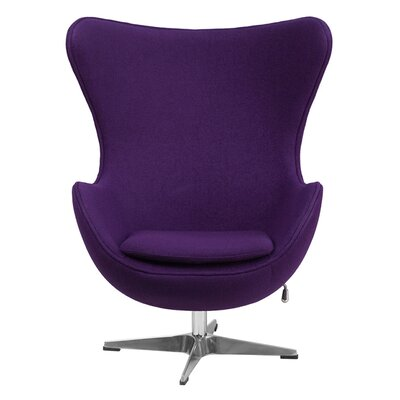 Siegle Lounge Chair Upholstery: Purple