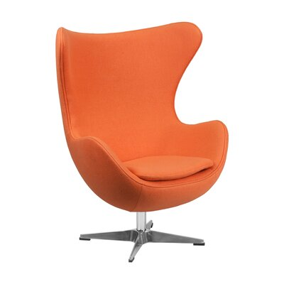 Siegle Lounge Chair Upholstery: Orange