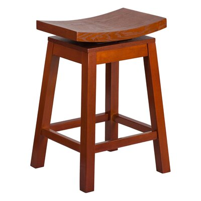 Friso High Saddle 26.25 Swivel Bar Stool Finish: Light Cherry