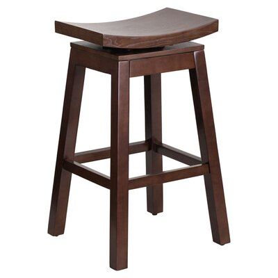 Faxan High Saddle 30 Swivel Bar Stool Finish: Cappuccino