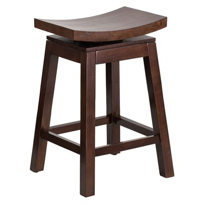 Friso High Saddle 26.25 Swivel Bar Stool Finish: Cappuccino
