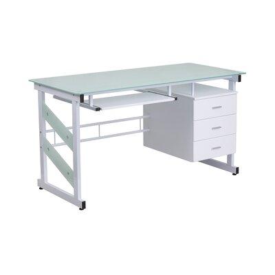 Highgate White Computer Desk with 3 Drawer Pedestal LTDR4917 40584407