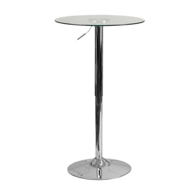 Coolidge Round Adjustable 33.5 Height Glass Dining Table