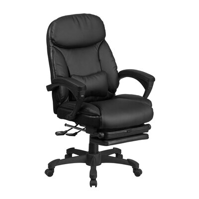 Quinlynn Executive Reclining Swivel High Back Leather Desk Chair