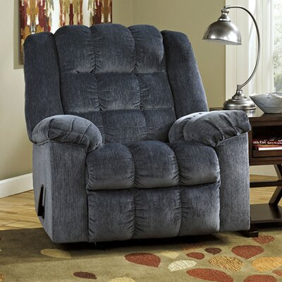 Harloe Manual Rocker Recliner Upholstery: Blue