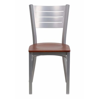 Taylor Ladder Back Dining Chair Color: Cherry/Silver