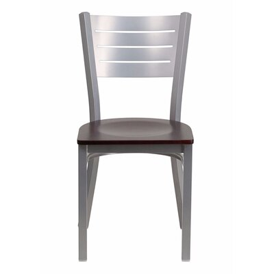 Taylor Ladder Back Dining Chair Color: Mahogany/Silver